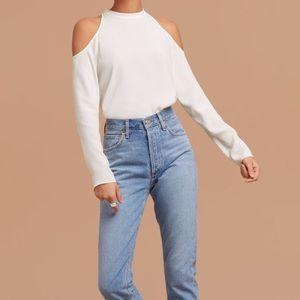 Aritzia Cold shoulder blouse